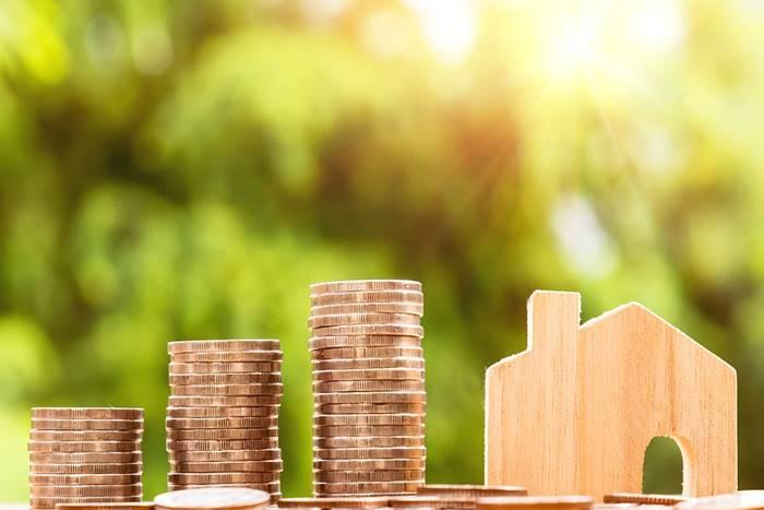 Ξύλινο σπίτι και κέρματα: δηλώνουν περιουσιακά στοιχεία