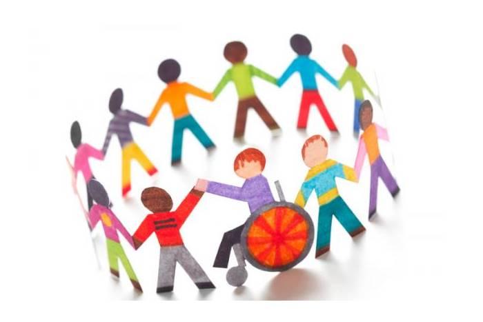 Σκίτσα παιδιών σε κύκλο με και χωρίς αναπηρία