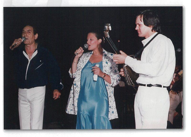 Ο Χρήστος Νικολόπουλος με τον Στράτο Διονυσίου και τη Μαρίνα Βλαχάκη