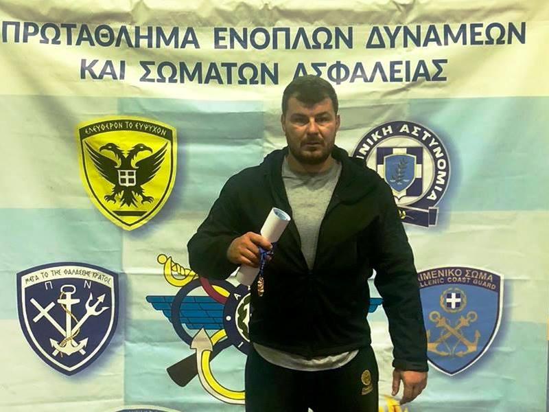 Ο Κώστας Βουρδάνος σε πρωτάθλημα ενόπλων δυνάμεων και σωμάτων ασφαλείας