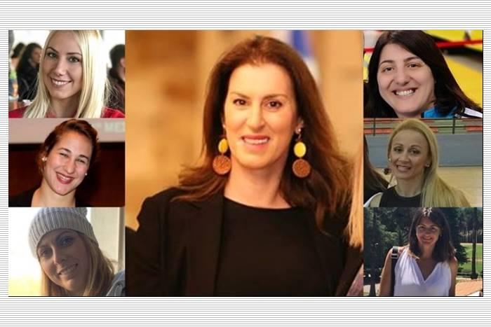 κολαζ φωτογραφιών με τις επτά γυναίκες που μίλησαν στο ΑΠΕ-ΜΠΕ