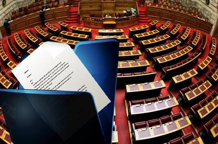 σκίτσο από έδρανα της βουλής