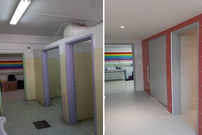είσοδος μπάνιου πριν και μετά