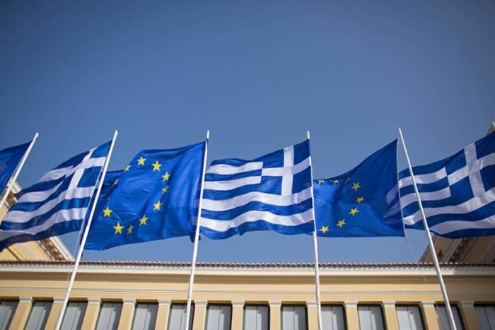 Σημαίες Ελλάδας και ευρωπαϊκής ένωσης