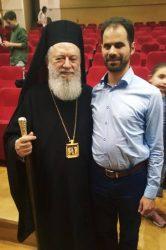 Ο Βαγγέλης Αυγουλάς με τον Μητροπολίτη Χαλκίδας κ. Χρυσόστομο