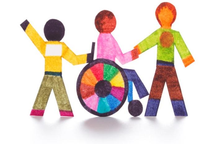 σκίτσο παιδιών με αναπηρία