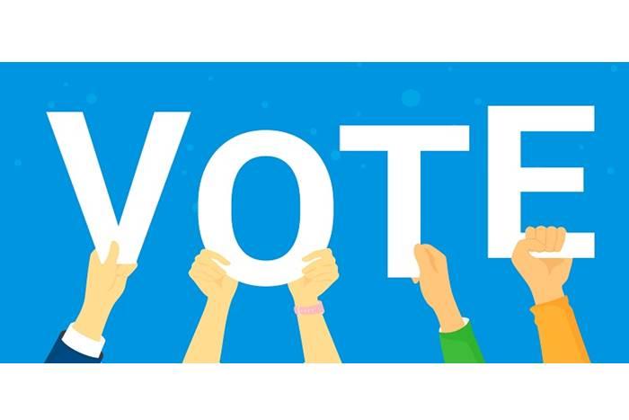 χέρια που κρατάνε vote