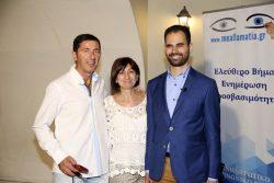 Ο Βαγγέλης Αυγουλάς με τον Αλέξη Γκλίνο δάσκαλο ειδικής αγωγής και τη μητέρα του