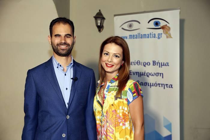 Ο Βαγγέλης Αυγουλάς με την Κατερίνα Μιχαλοπούλου