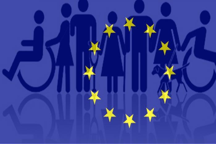 άτομα με αναπηρία και σημαία ευρωπαϊκής ένωσης