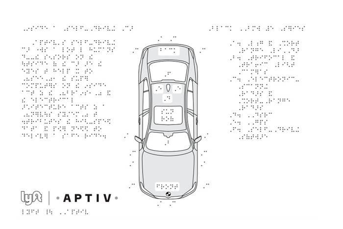 Σχεδιάγραμμα αυτοκινήτου με braille πληροφορίες