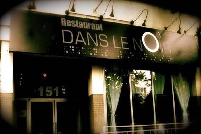 το εστιατόριο dans le noir