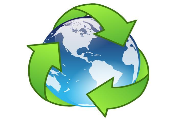 η γη μέσα στο σήμα της ανακύκλωσης