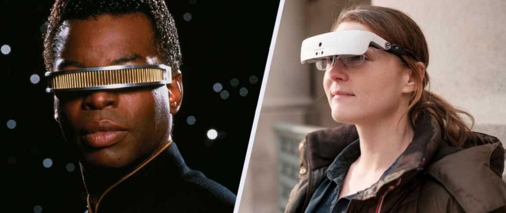 τα βιονικά γυαλιά του Geordi La Forge και η νέα συσκευή της ωχράς κηλίδας