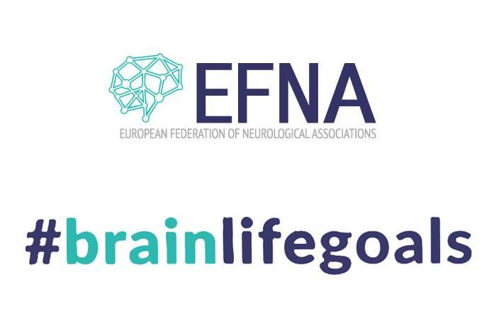 λογότυπο της εκστρατείας BrainLifeGoals και του EFNA–European Federation of Neurological Associations
