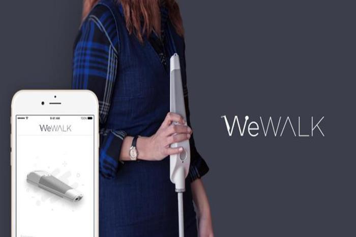 το λευκό μπαστούνι wewalk