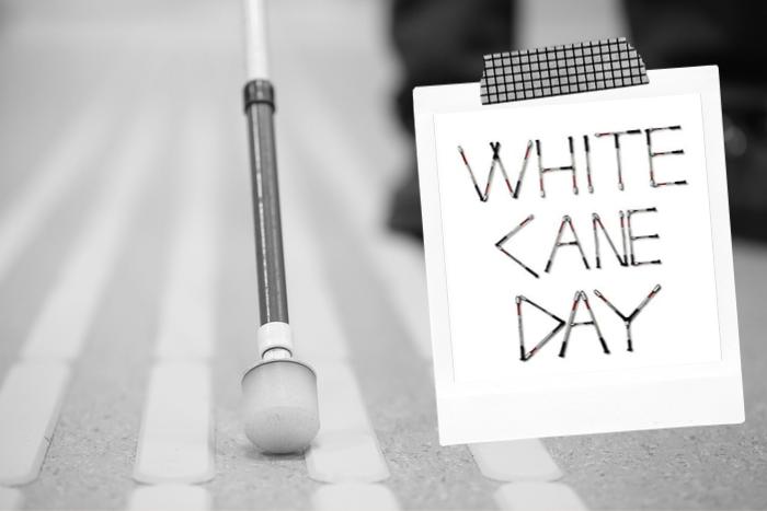 """Λευκό μπαστούνι και φράση """"white cane day"""""""