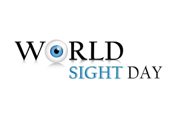 """Η φράση World Sight day κι ένα μάτι αντί για το γράμμα """"o"""""""