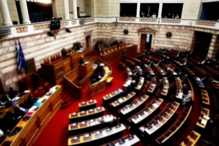 φωτογραφία από την αίθουσα της Βουλής