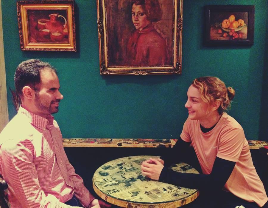 Ο Βαγγέλης Αυγουλάς και η Γιούλικα Σκαφιδά στην Συνέντευξη