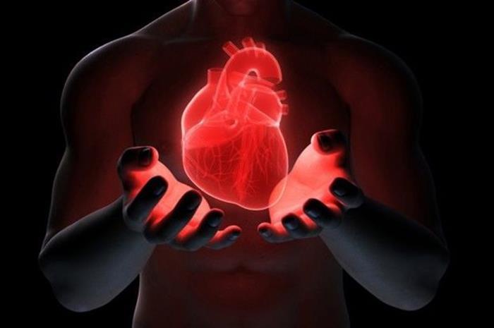 άνδρας που κρατάει καρδιά με τα χέρια του