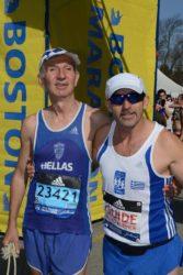 Ο Στέργιος με συνοδό του σε αγώνα τρεξίματος