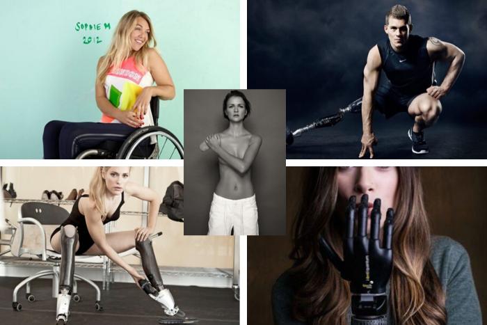 Μοντέλα με αναπηρία Sophie MorganJack Eyers, Aimee Mullins, Debbie van der Putten και Rebekah Marine