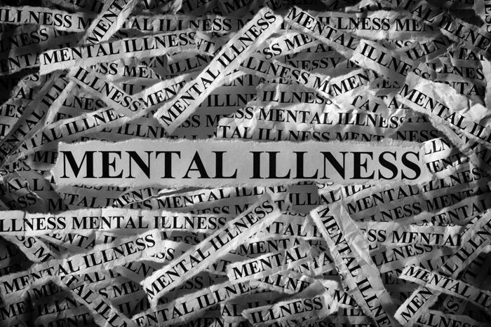 η φράση mental illness σε πολλά χαρτάκια