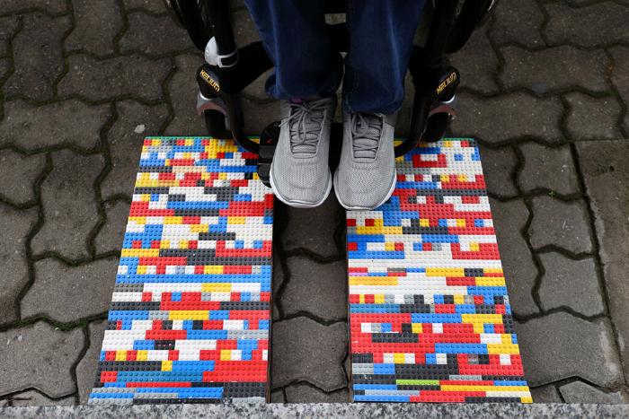 ράμπα από τουβλάκια lego