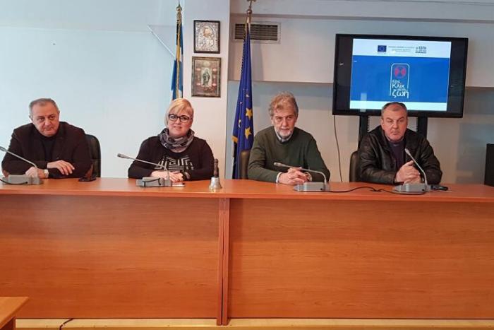 Ο Δήμαρχος Ιωάννης Ταχματζίδης, ο Αντιπεριφερειάρχηα Χρήστος Μήττας, η Αντιδήμαρχος Ελισάβετ Κοτσώνη, η Γενική Γραμματέας Ελένη Δραγατίδου