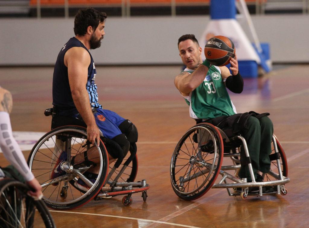 Ο Παναγιώτης Κοντογιάννης ως παίκτης του παναθηναϊκού στο μπάσκετ με αμαξίδιο