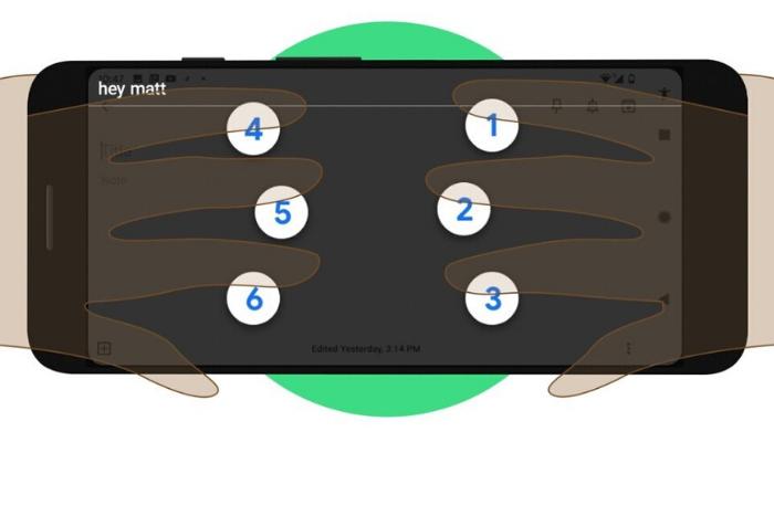 κινητό με πληκτρολόγιο braille
