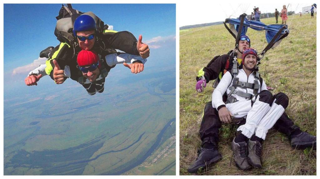 Ο Κοντογιάννης κάνοντας skydiving