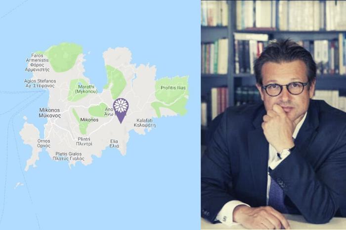 Ο δικηγόρος Στέλιος Γκαρίπης και ο χάρτης της Μυκόνου