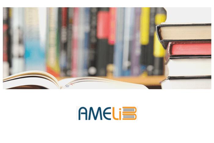 Βιβλία και λογότυπο amelib