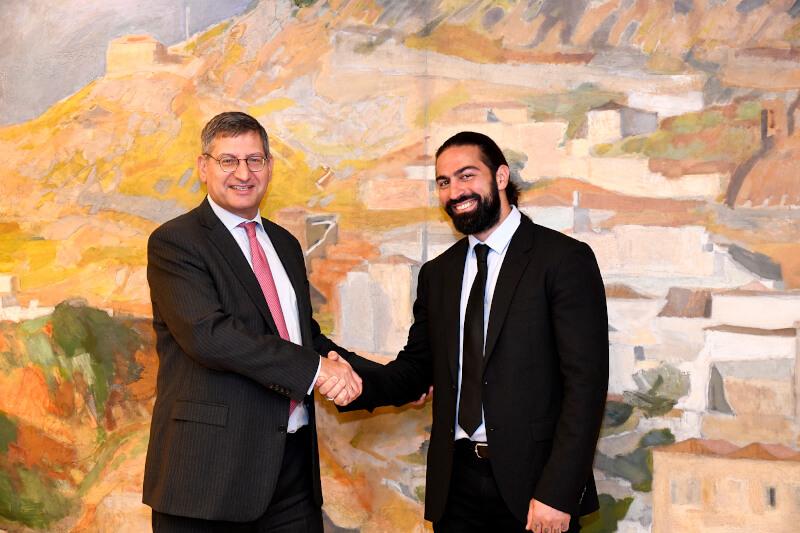 ο Διευθύνων Σύμβουλος της Εθνικής Τράπεζας κ. Παύλος Μυλωνάς με τον Μιχάλη Σεϊτη