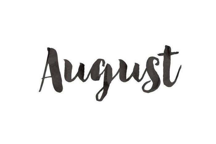 """η λέξη """"August"""""""