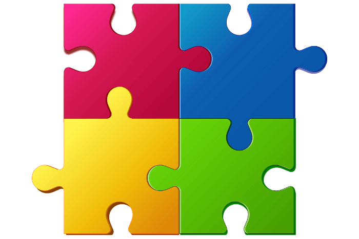 πολύχρωμο παζλ λογότυπο αυτισμού