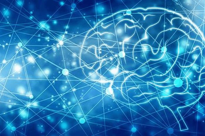 εγκέφαλος και νευρώνες σε ψηφιακή μορφή