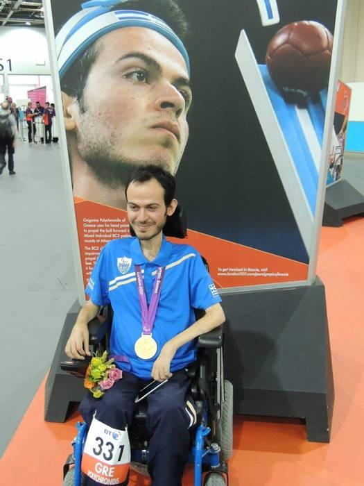 Ο Γρηγόρης Πολυχρονίδης ε μετάλλιο