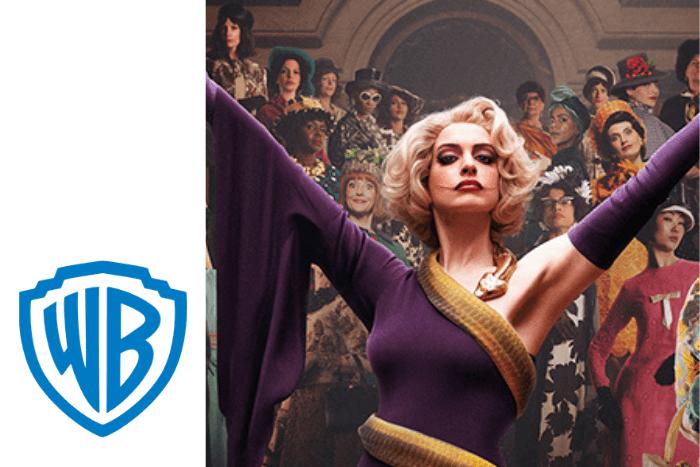"""Η Αν Χάθαγουεϊ από την ταινία """"the Witches"""" και λογότυπο warner bross"""