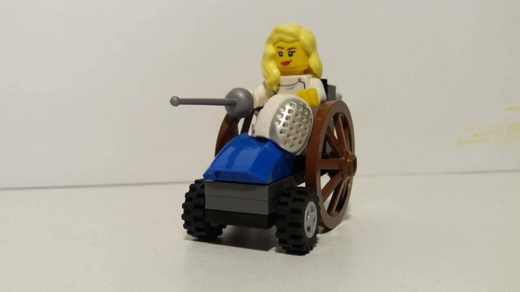 η Κέλλυ Λουφάκη σε φιγούρα lego