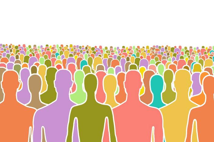 Χρωματιστά σκίτσα ανθρώπων