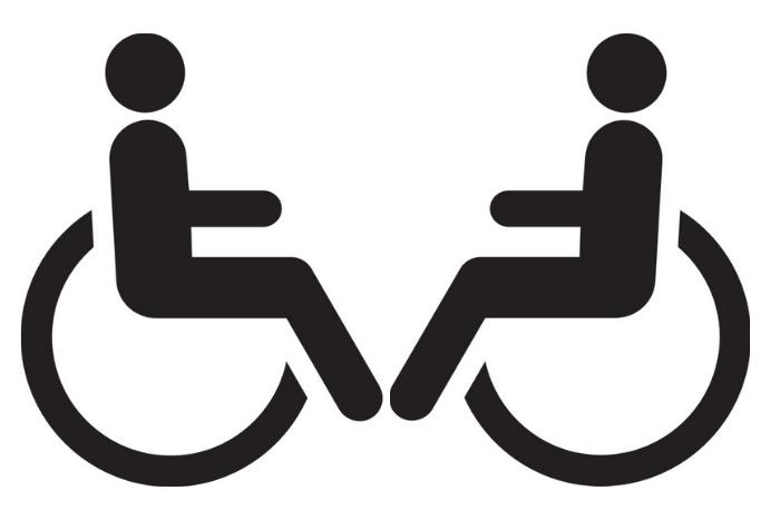 Αναπηρικό αμαξίδιο με άτομο (σκίτσο)