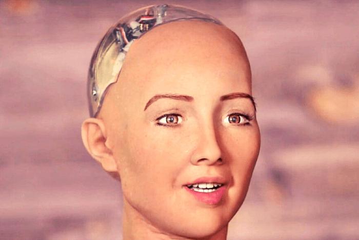 κεφάλι από το ρομπότ Σοφία