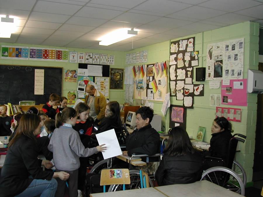 5.Στο Σχολείο St.Fergals Senior National School στο Bray Δουβλίνου μέσα από ευρωπαϊκό σχολικό πρόγραμμα.