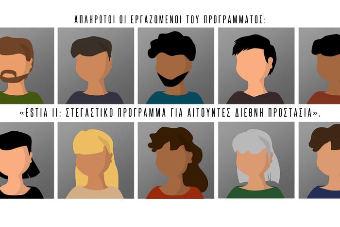 Σκίτσα ανθρώπων (avatar) που παρομοιάζονται με τους εργαζόμενους