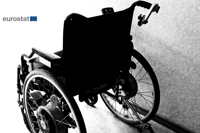 Αναπηρικό Αμαξίδιο και το λογότυπο της eurostat