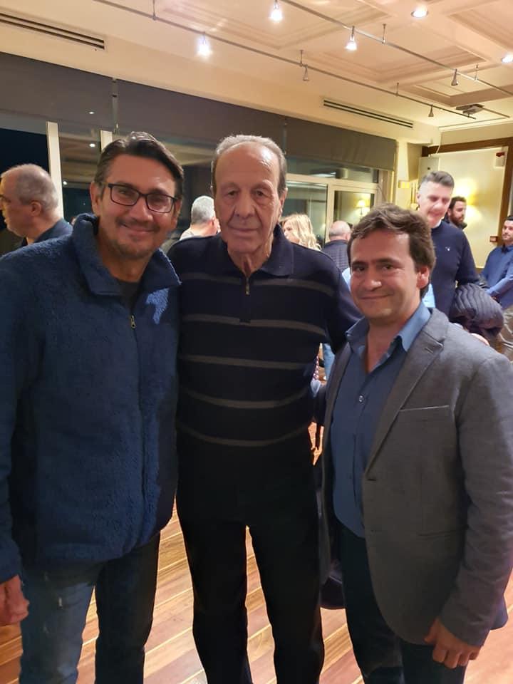 Ο Δημοσθένης Ταμπάκος με τον Νίκο Κακλαμανάκη και ο Χρήστος Παπανικολάου
