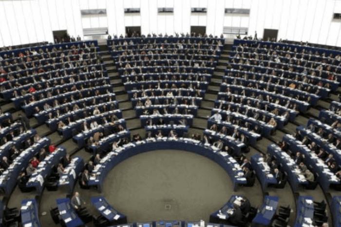 Ευρωκοινοβούλιο (μακρινή φωτογραφία από ψηλά)